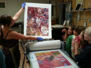 johanna artinson mono print camp session 3 wednesday july 30 2013 cell 379